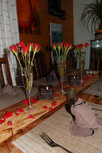 table decoration for valentines